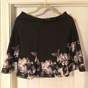 Dresses & Skirts - Black & White Floral Flare Skirt